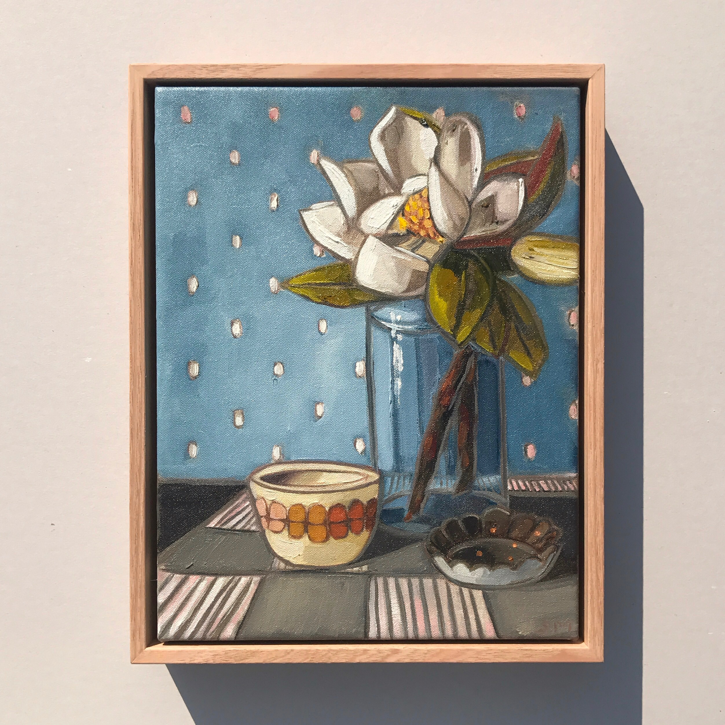 04_17 Country Magnolia & Stripes $645 36x29cm