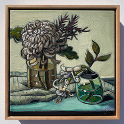 sam michelle 'chrysanthemum & fuchsias'