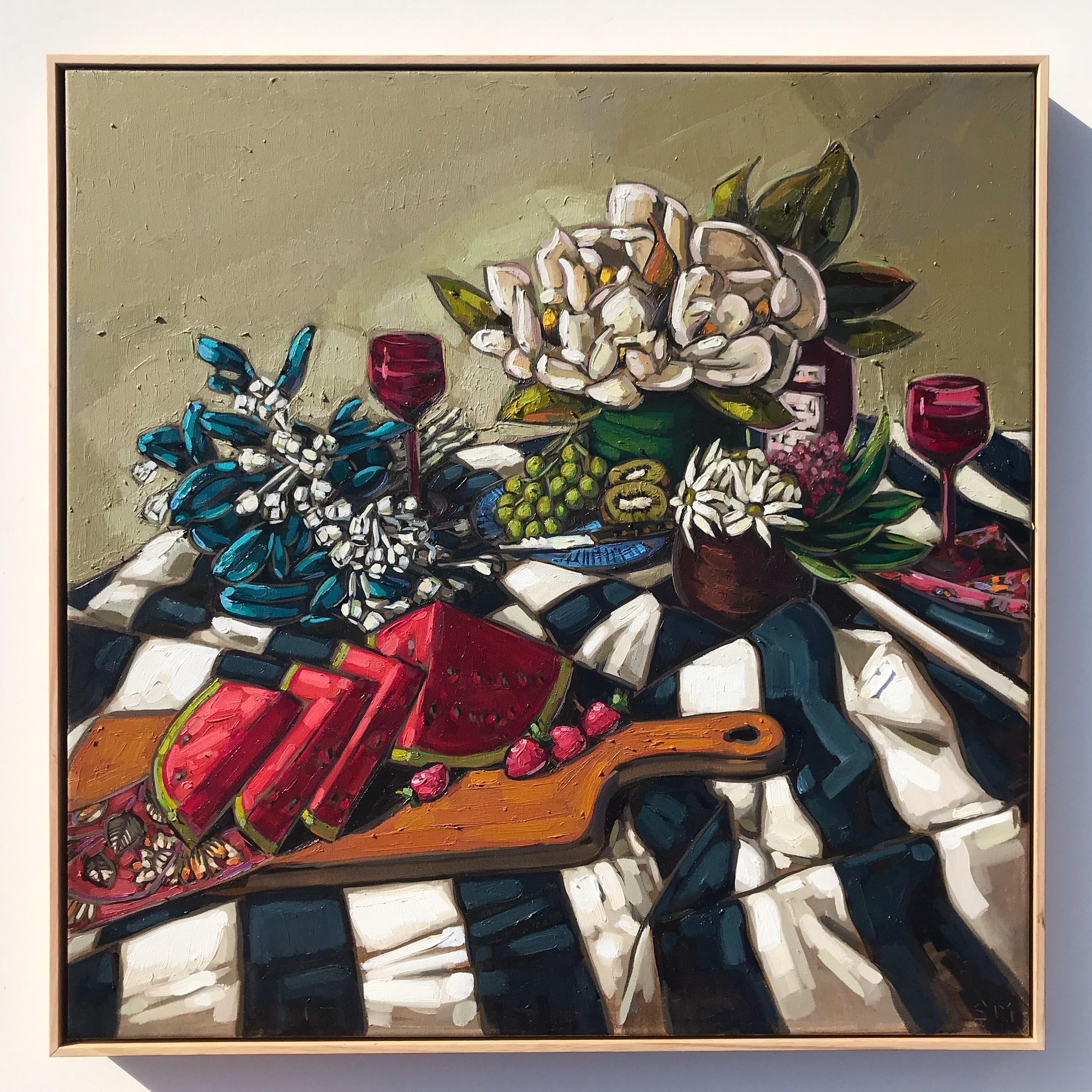 Sam Michelle 'Spring Picnic Blanket' 82x