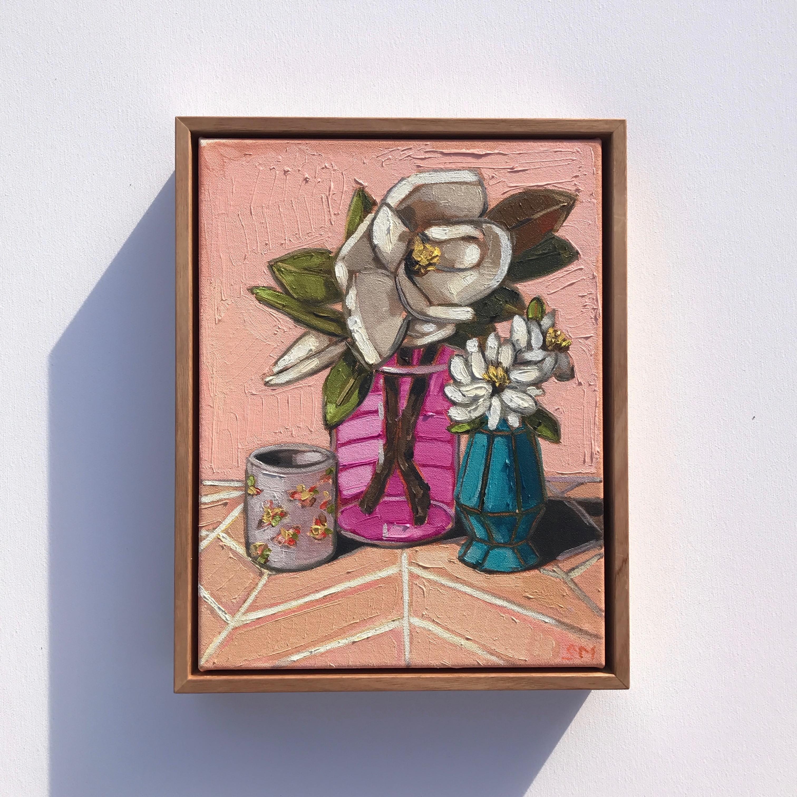 07_17 'Magnolia & Peach' 37x29cm $695
