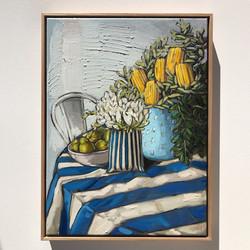 Sam Michelle 'Pears, Freesia & Banksia'60x45cm
