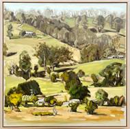 sam michelle 'gippsland landscape' 104x104cm $6,350 2020