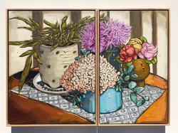 Sam Michelle 'Autumn Coffee Table' 65x50 & 65x40