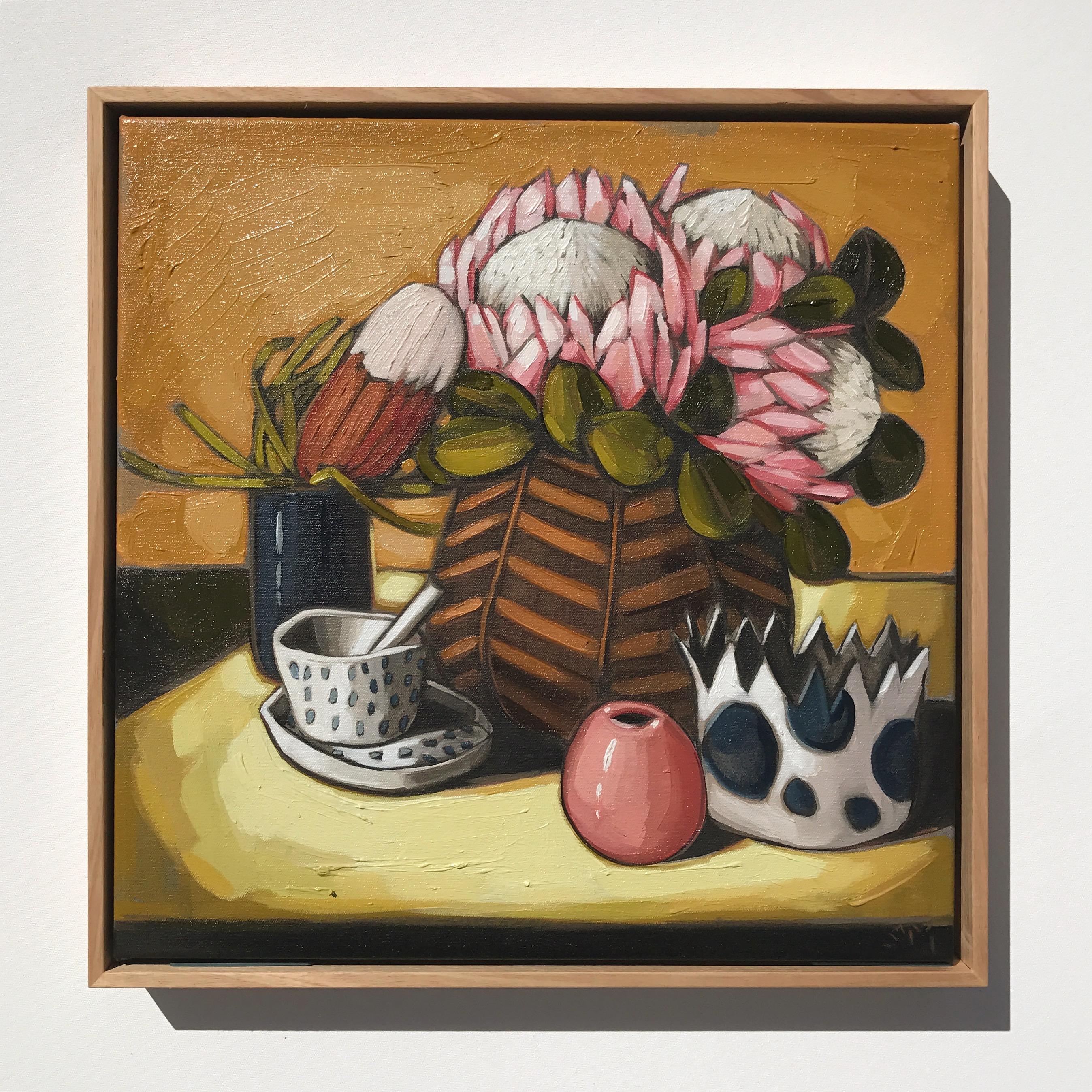 12_17 EMPEREUR 'Proteas, Banksia & Vessels' 45x45cm $1,395