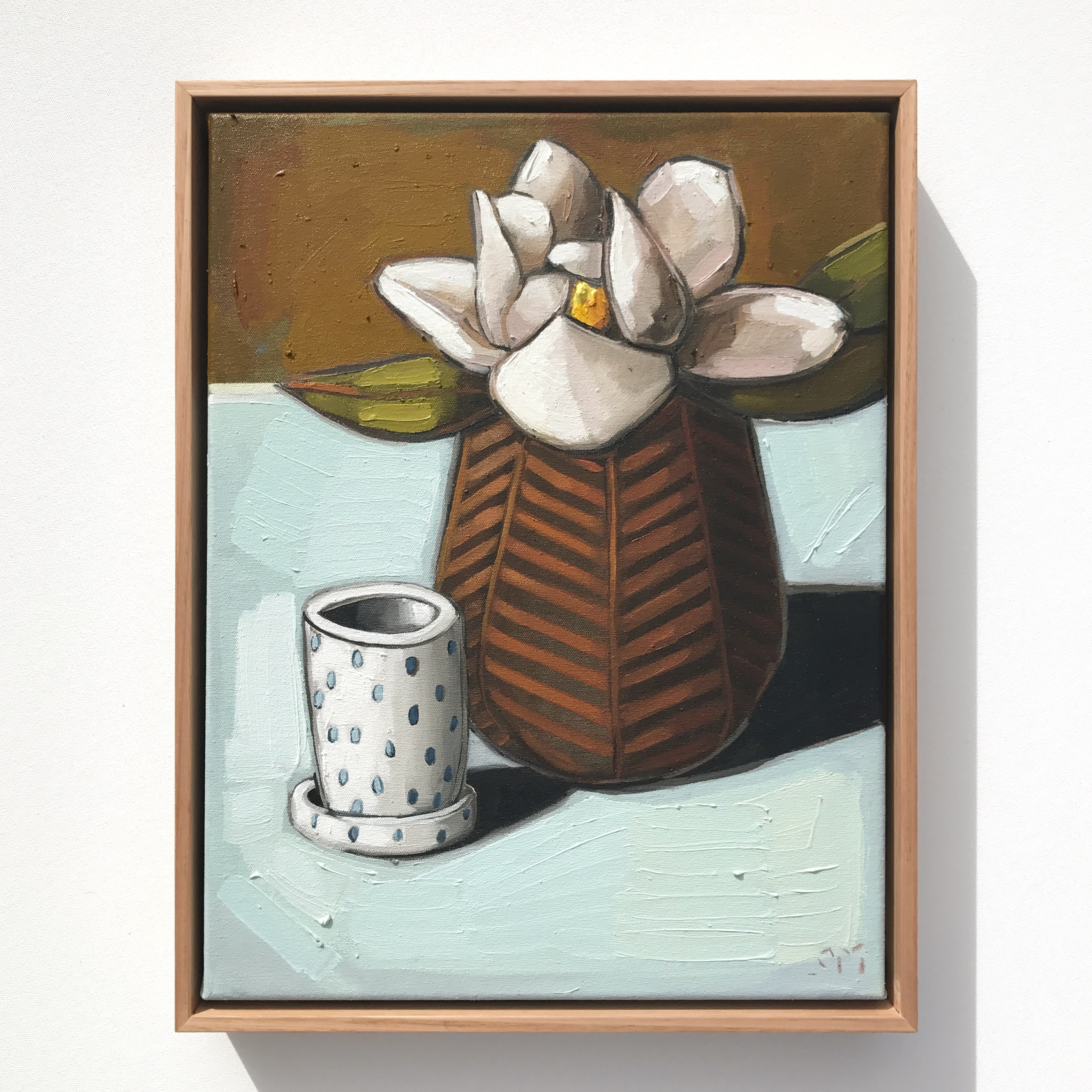 12_17 EMPEREUR 'Magnolia & Spotty Mug' 45x35cm $1,195
