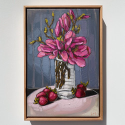 Sam Michelle 'Spring Magnolias & Strawbe
