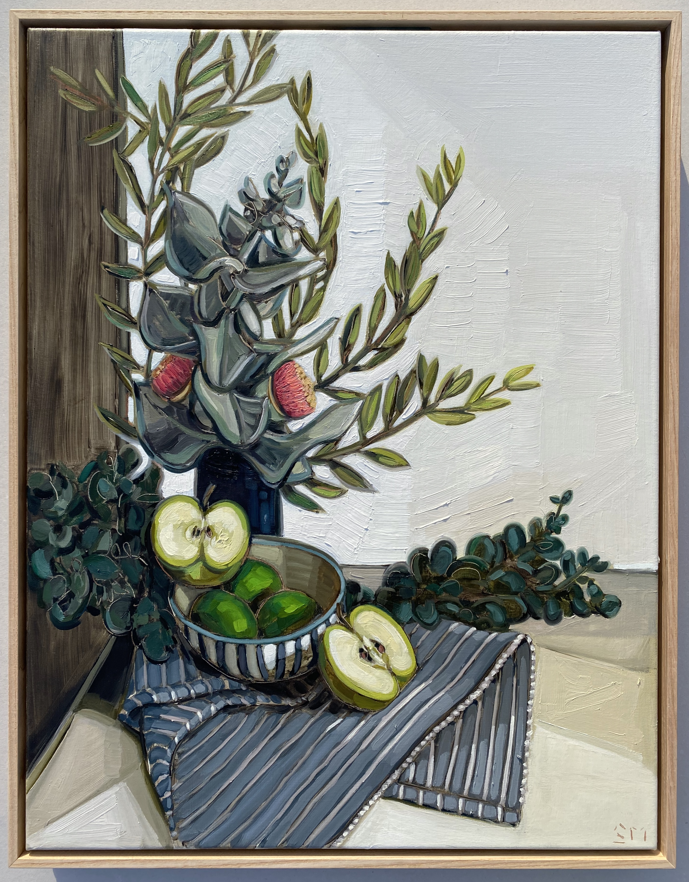 sam michelle 'eucalyptus macrocarpa & apples' 68x53cm