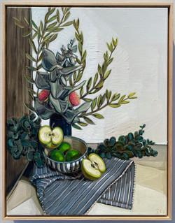 sam michelle 'eucalyptus macrocarpa & apples' 68x53cm