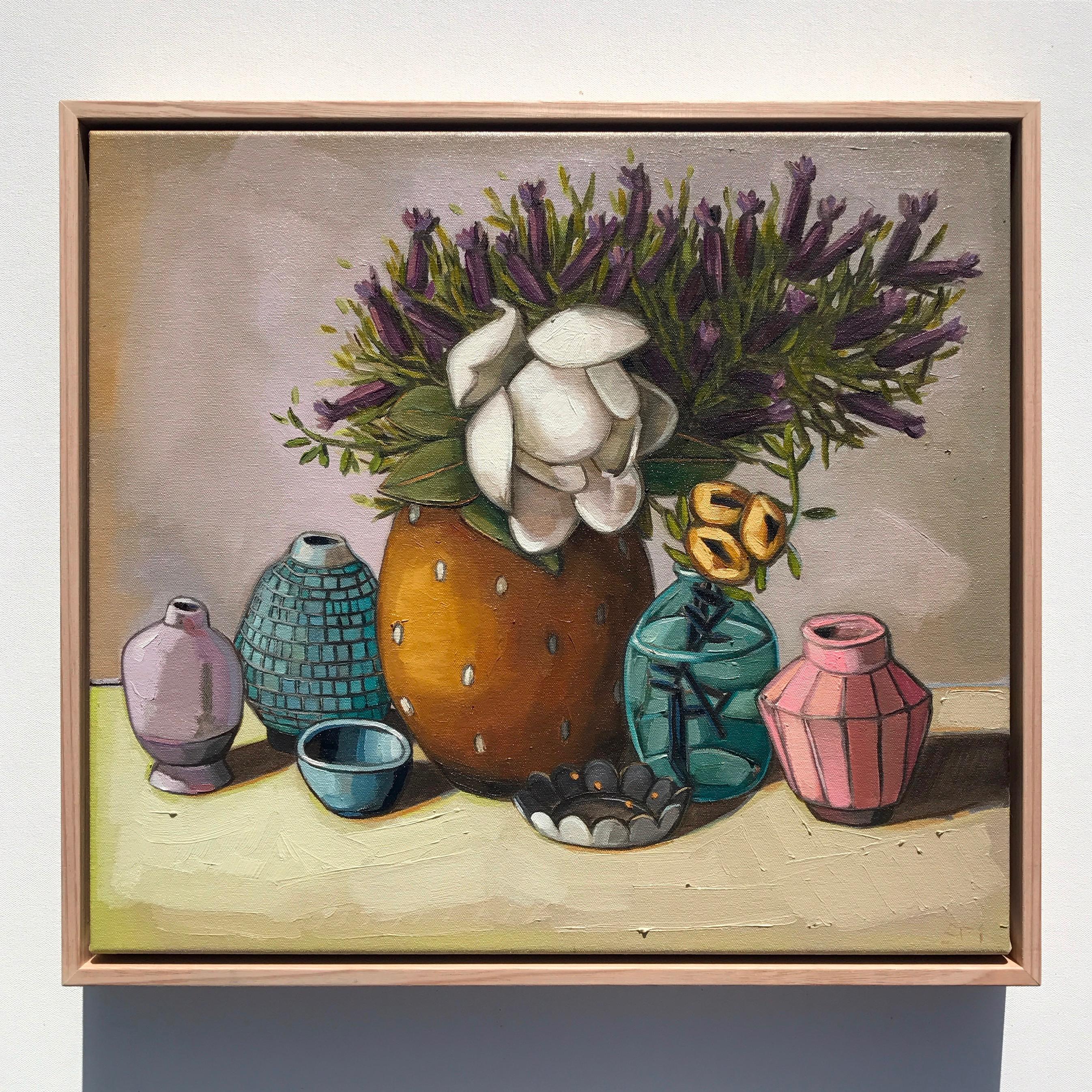 04_17 Lavender & Vessels 51x46cm $1,095