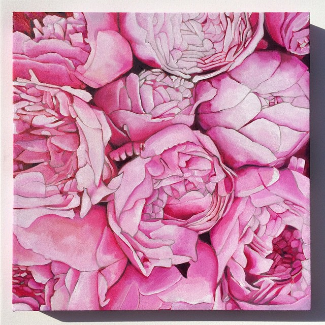 Instagram - Peony Commission heading off to Texas USA today! #peonies #peony