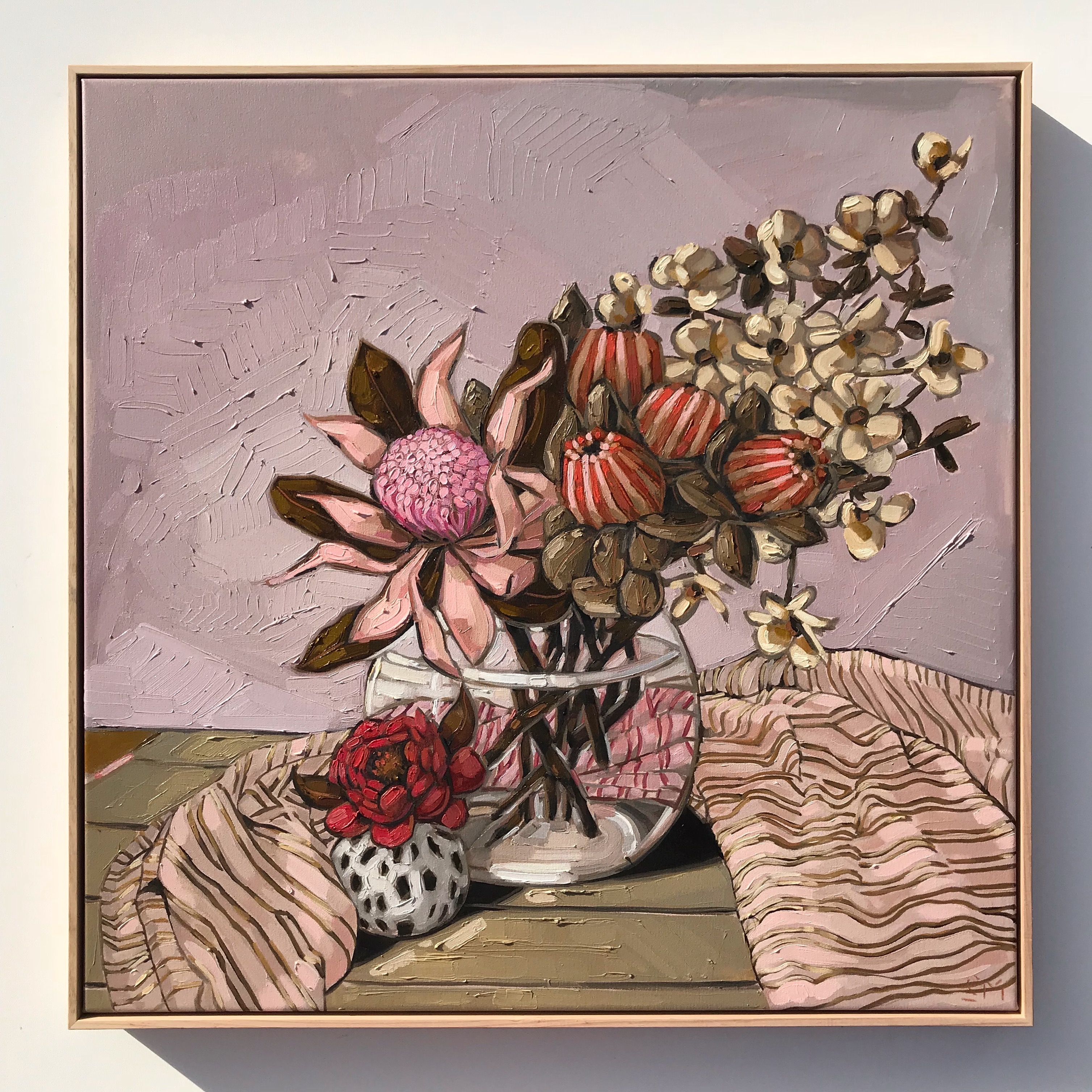 Sam Michelle 'Pink Waratah, Banksia & Do