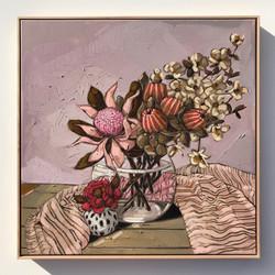 Sam Michelle 'Pink Waratah, Banksia & Do
