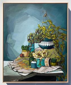sam michelle 'hills, olives & ivy' 88x73