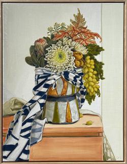 sam michelle 'chrysanthemum & cape' 79x60cm 2021