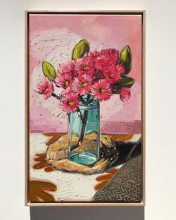 Sam Michelle 'Gum Blossoms & Pink' 65x40cm