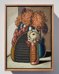 sam michelle 'hydrangeas, sculptures & p