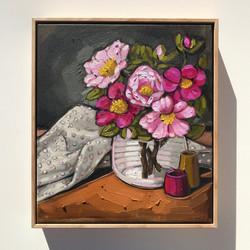 Sam Michelle 'Camellias & Spots'45x40cm