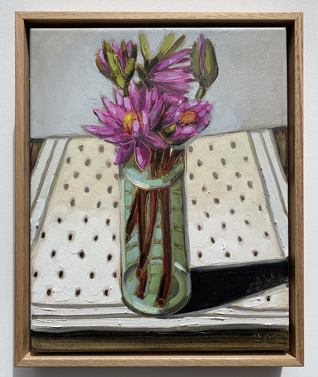 sam michelle 'lilies & turquoise vase' 3