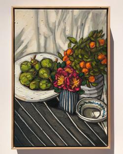 Sam Michelle 'Pears & Mini Cumquats'65x45cm