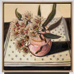 sam michelle 'blossoms & pink vase' 48x4