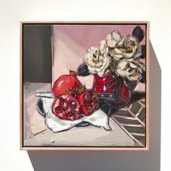Sam Michelle 'Pomegranates & Gardenias'43X43cm