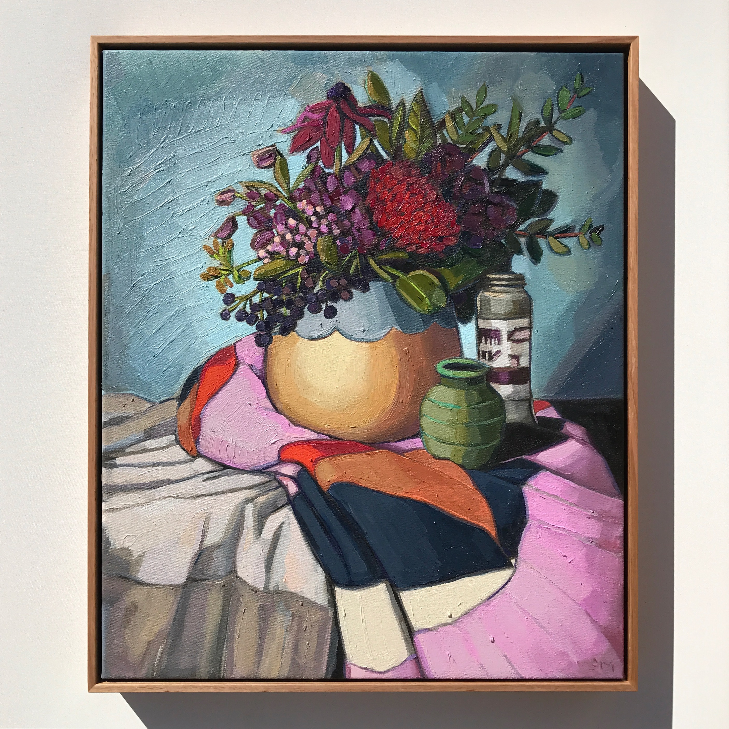 08_17 The Cloth Collection 'Bouquet & Cloth' 63x53cm $2,295