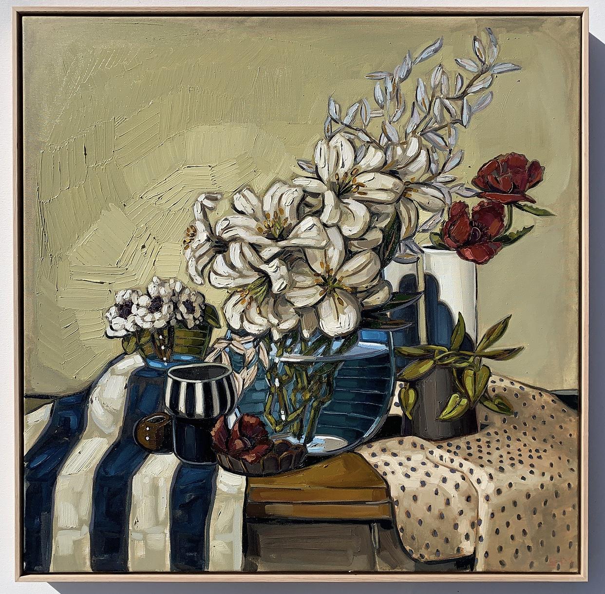 sam michelle 'anenomes, lillies & giant