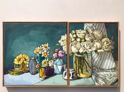 Sam Michelle 'Peonies, Water Lilies & Da