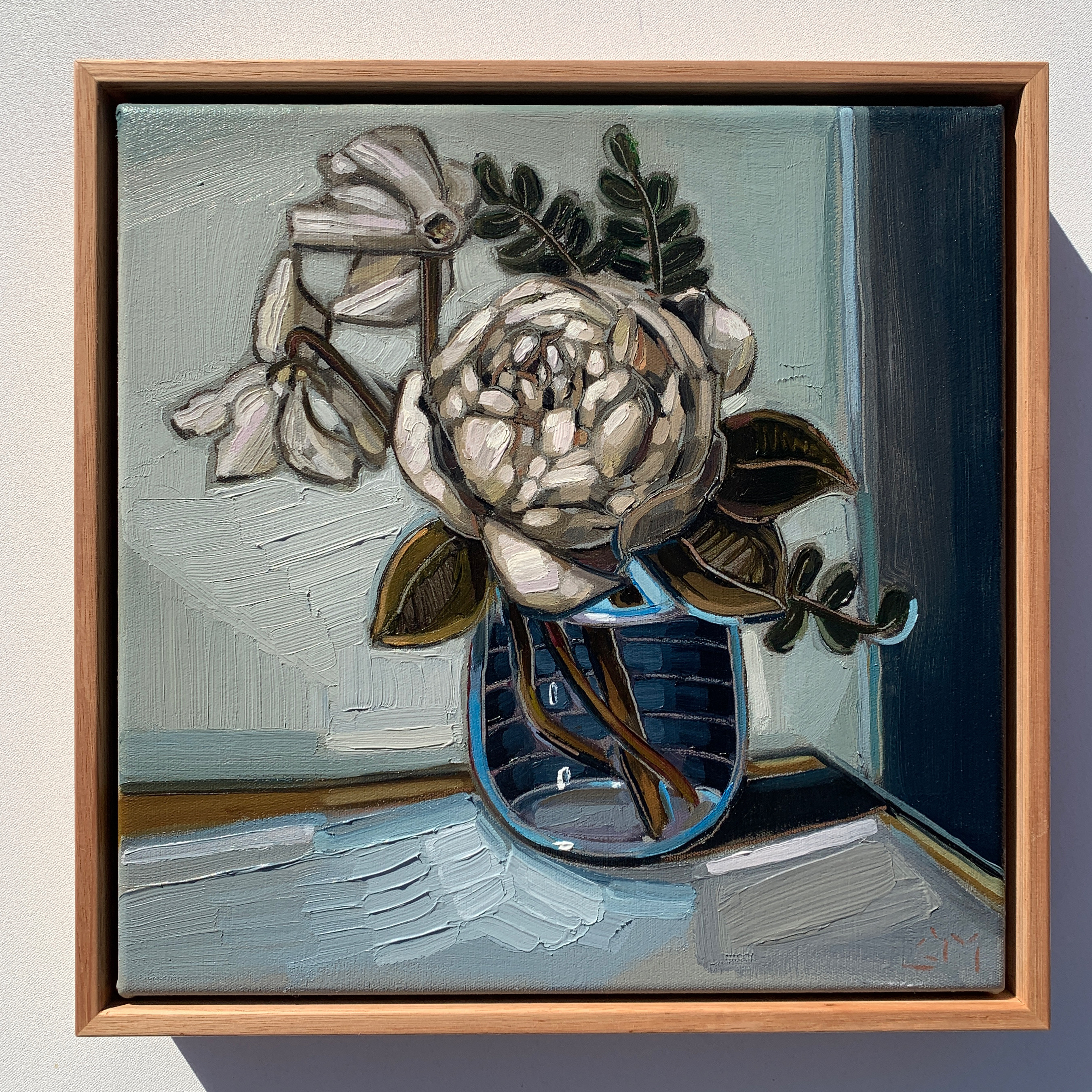 sam michelle 'rose & cyclamen' 31x31cm 2