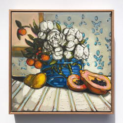 Sam Michelle 'Peonies & Fruit' 2019 47x4