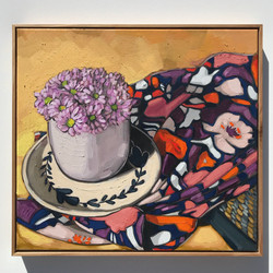 'Chrysanthemums, Zimi & Robert' 65x60cm