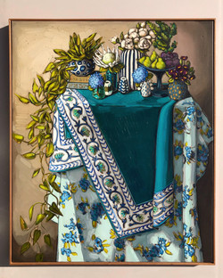 Sam Michelle 'Ivy, Textiles & Peonies' 2