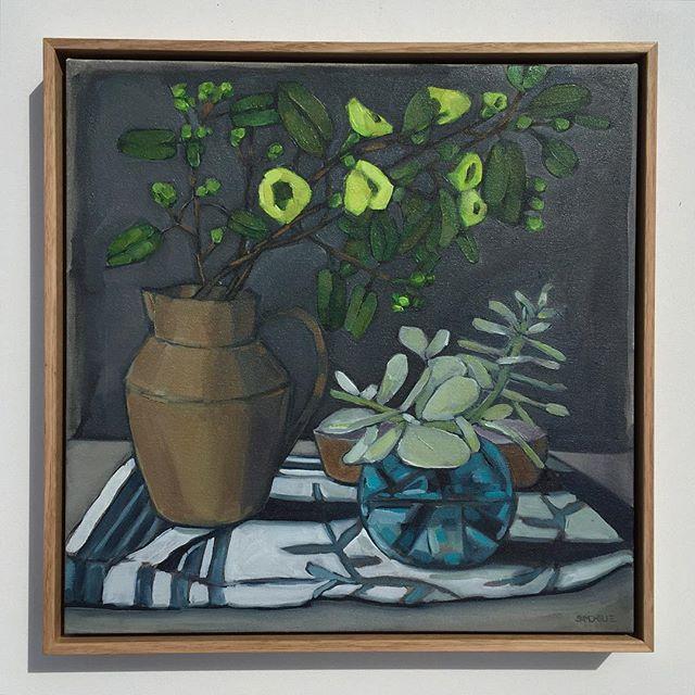 Instagram - 'Still Life Greens' Oil on Canvas 53cmx53cm $595- #oilpainting #australianart #painting