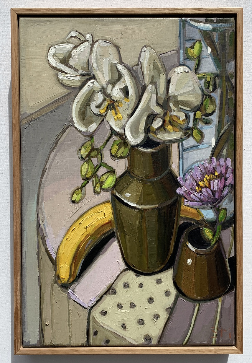 sam michelle 'orchids & banana' 45x30cm