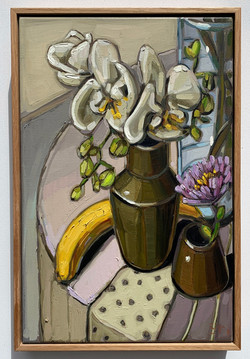 sam michelle 'orchids & banana' 45x30cm