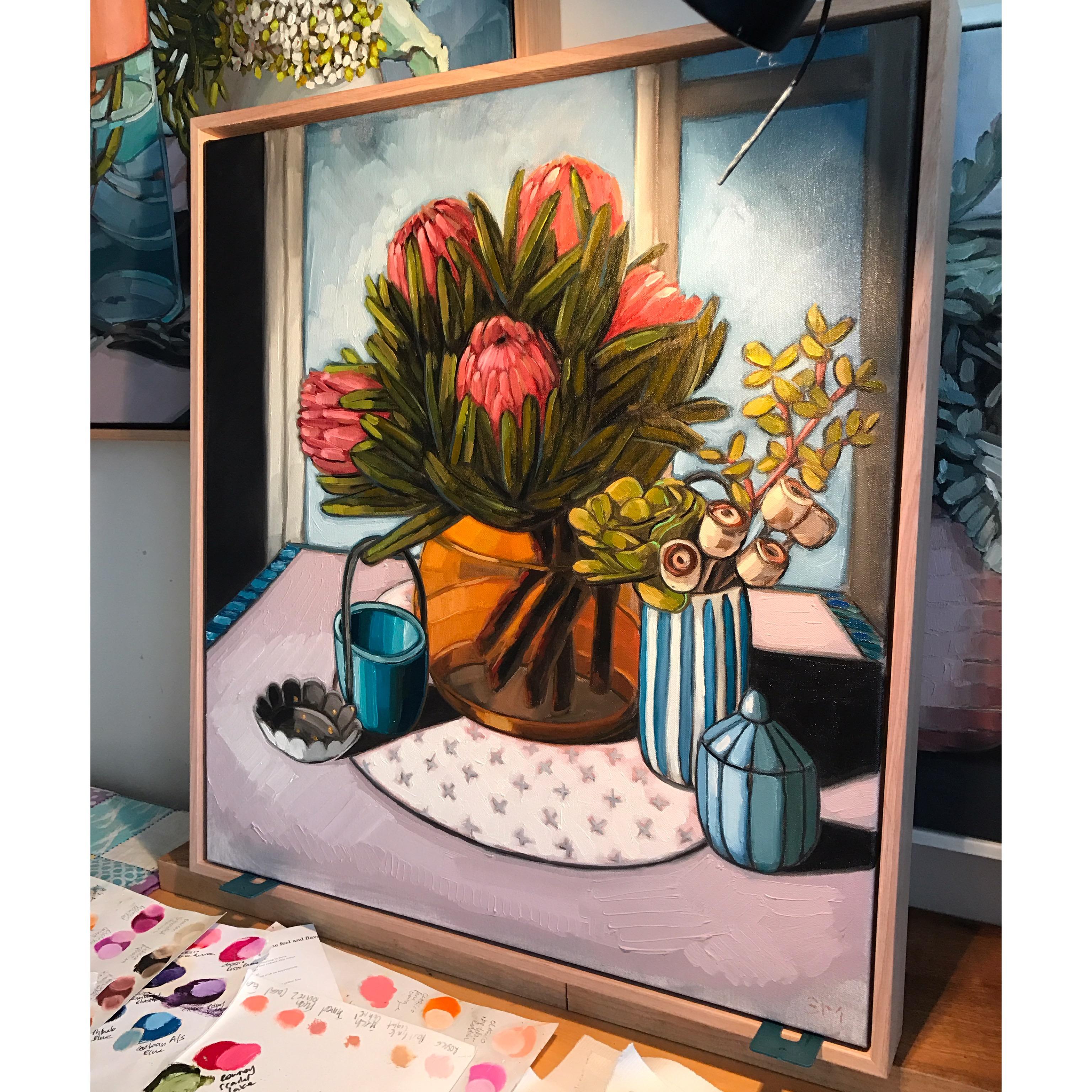 04_17 Protea Still Life 56x62cm $1,095