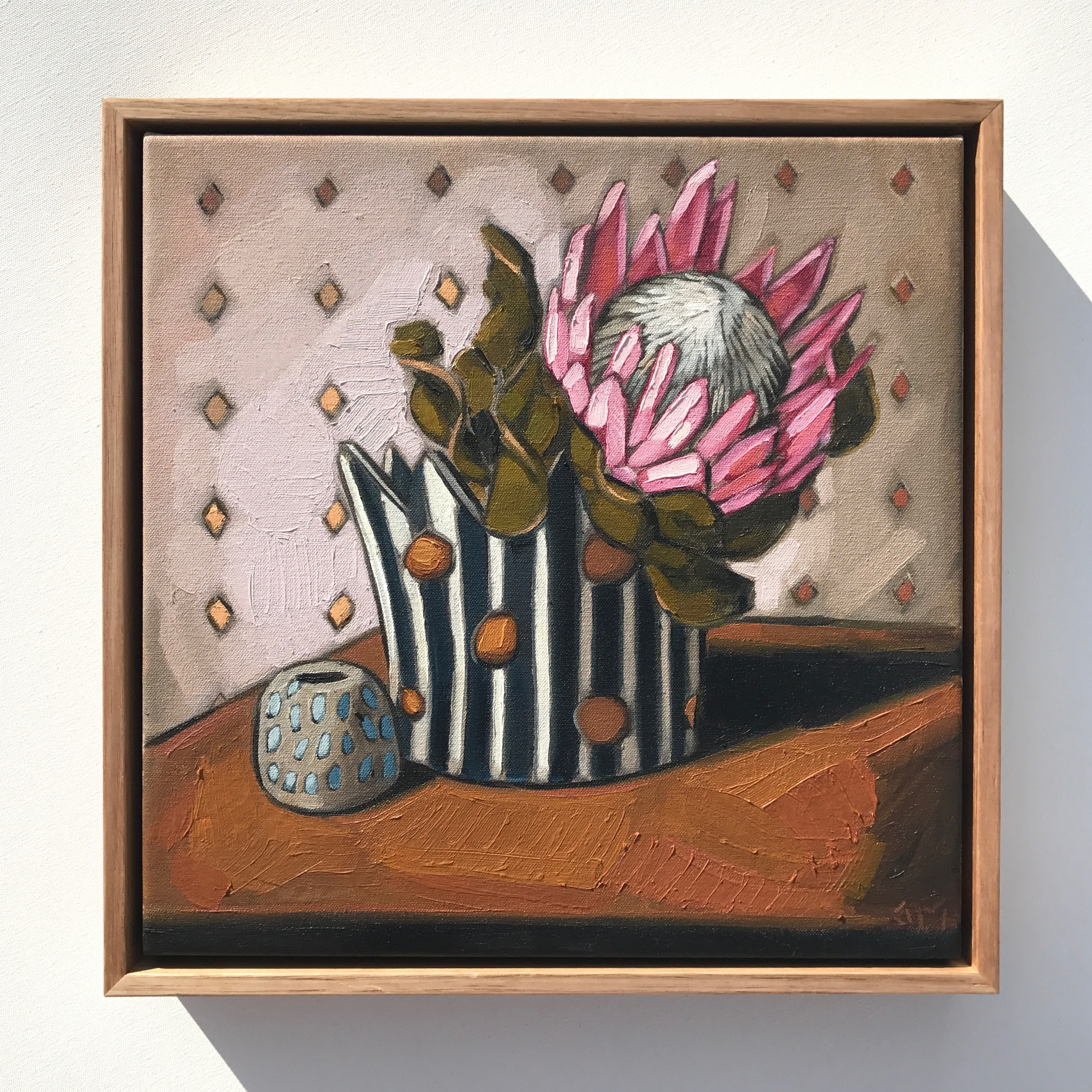 12_17 EMPEREUR 'King Protea & Crown' 38x38cm $1,195