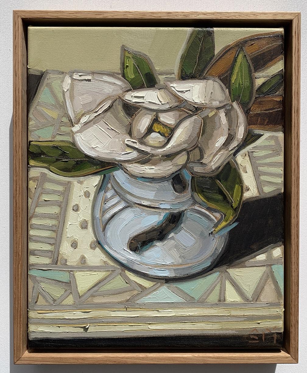 sam michelle 'magnolia & blue vase' 33x2