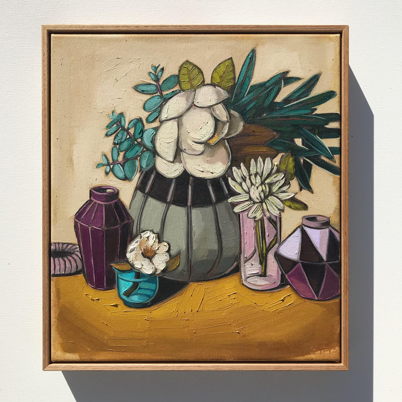 'Magnolias & Purple' 45x40cm