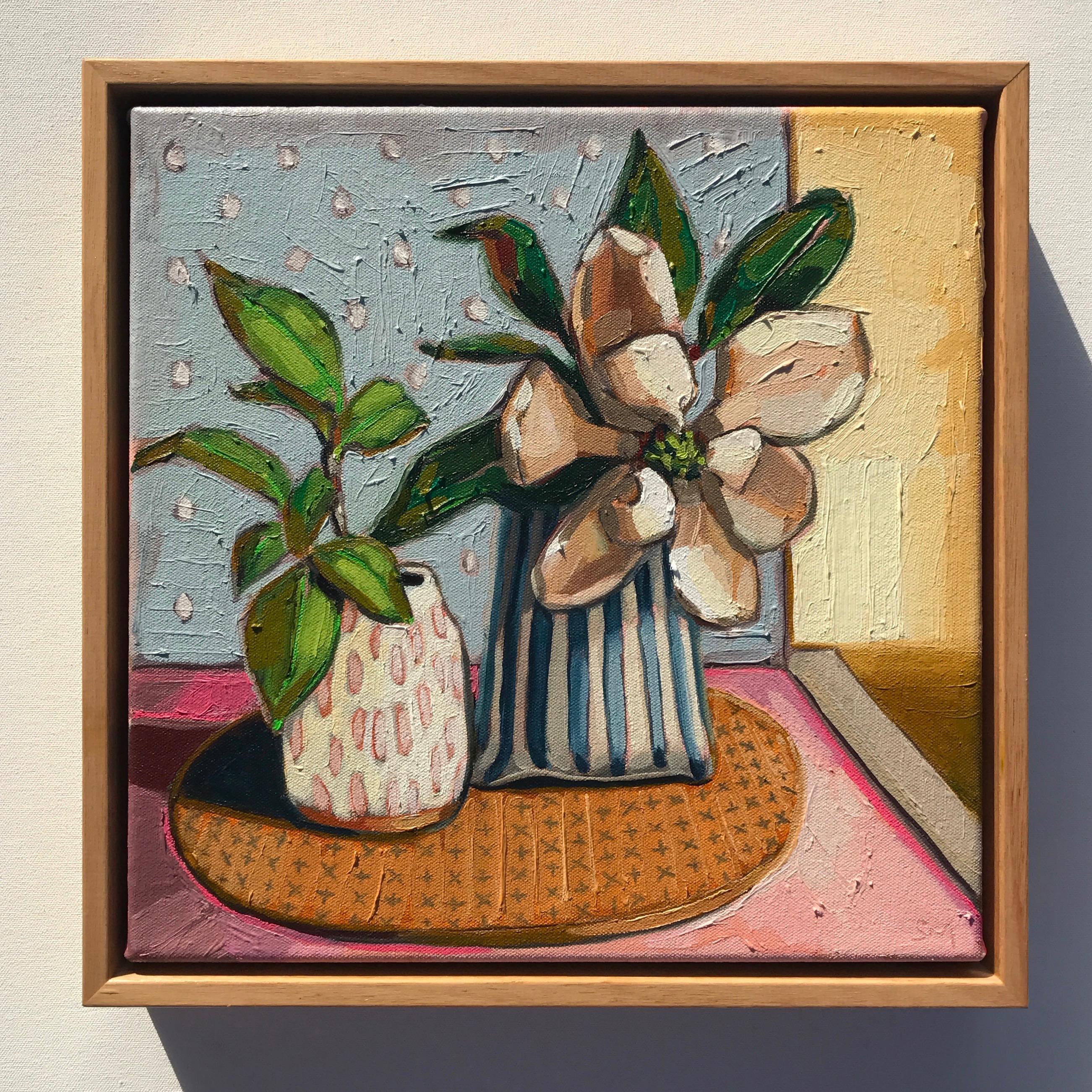 02_17 Magnolia & Patterns 38x38cm $695
