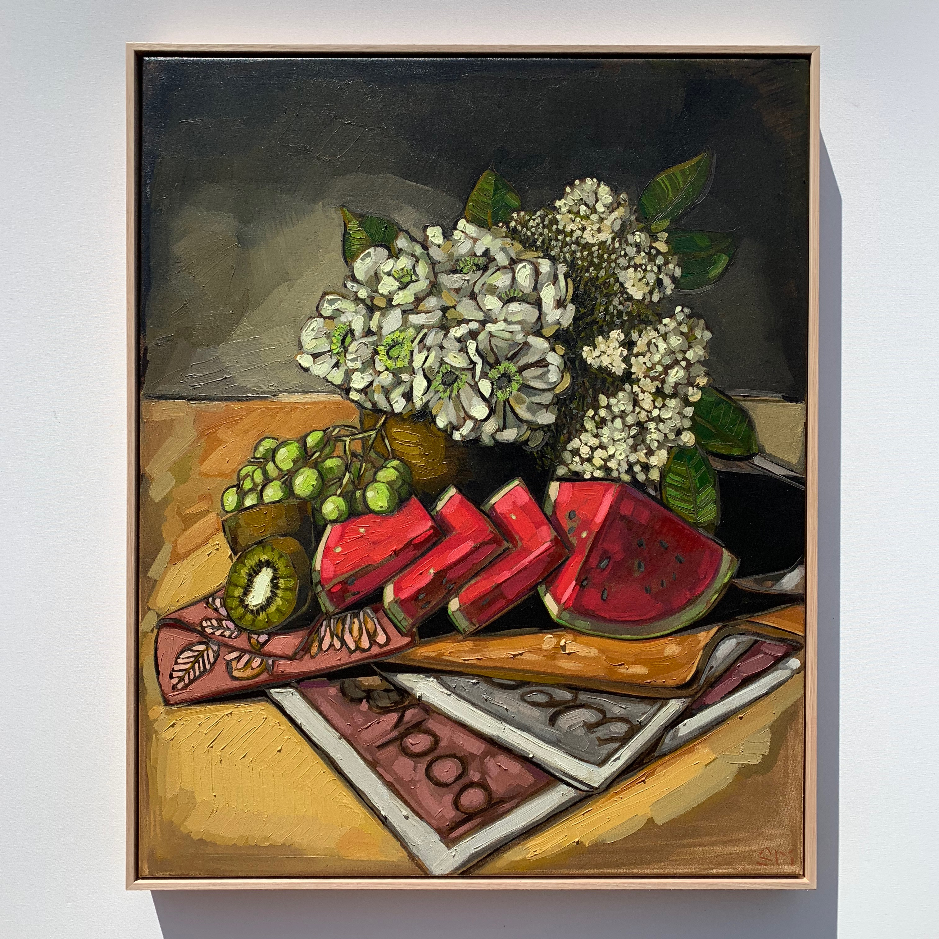 Sam Michelle 'Spring Picnics' 83x68cm