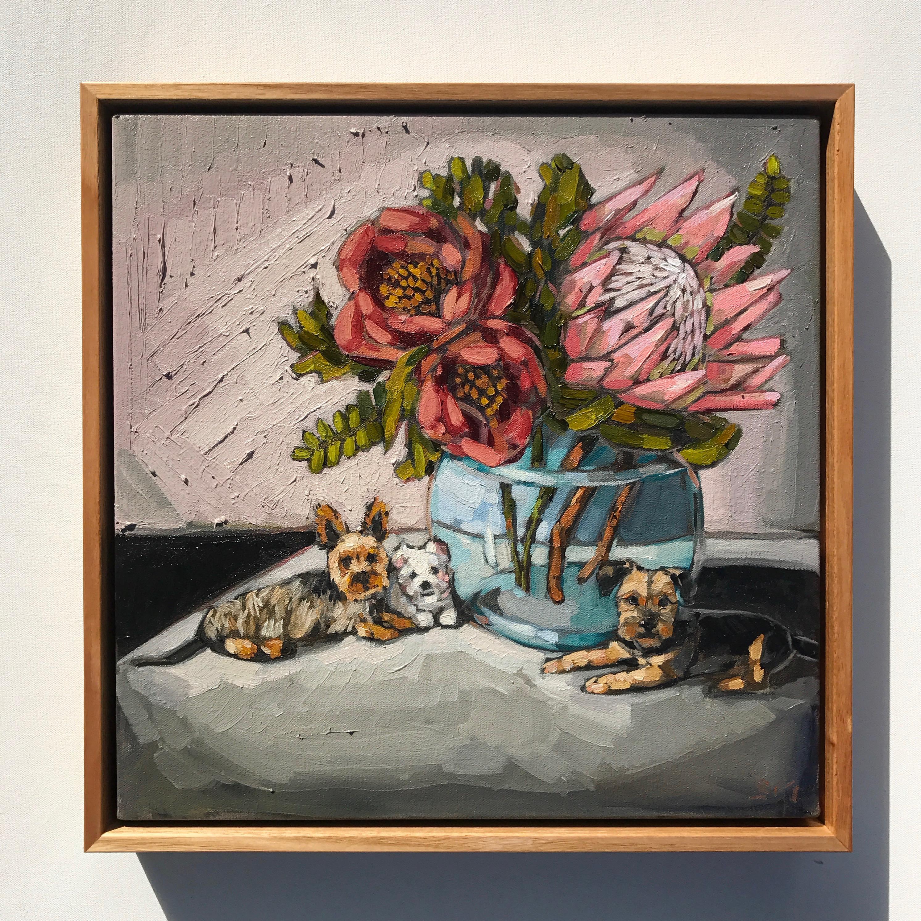 02_17 'Maxi, Freddie, Mae' Commission 40x40cm