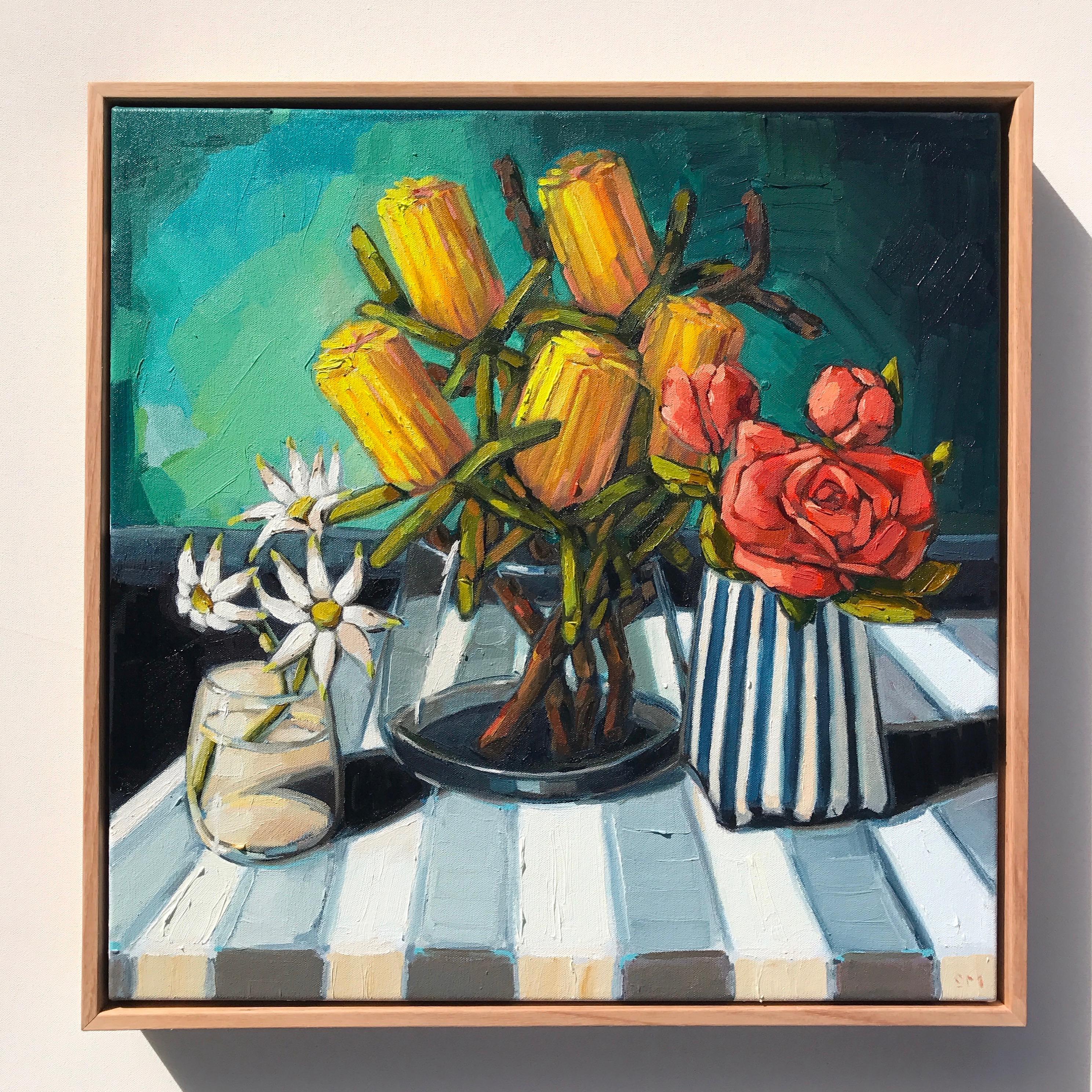 01_17 'Hyper-Botancial, Yellow Banksia' 53x53cm $895