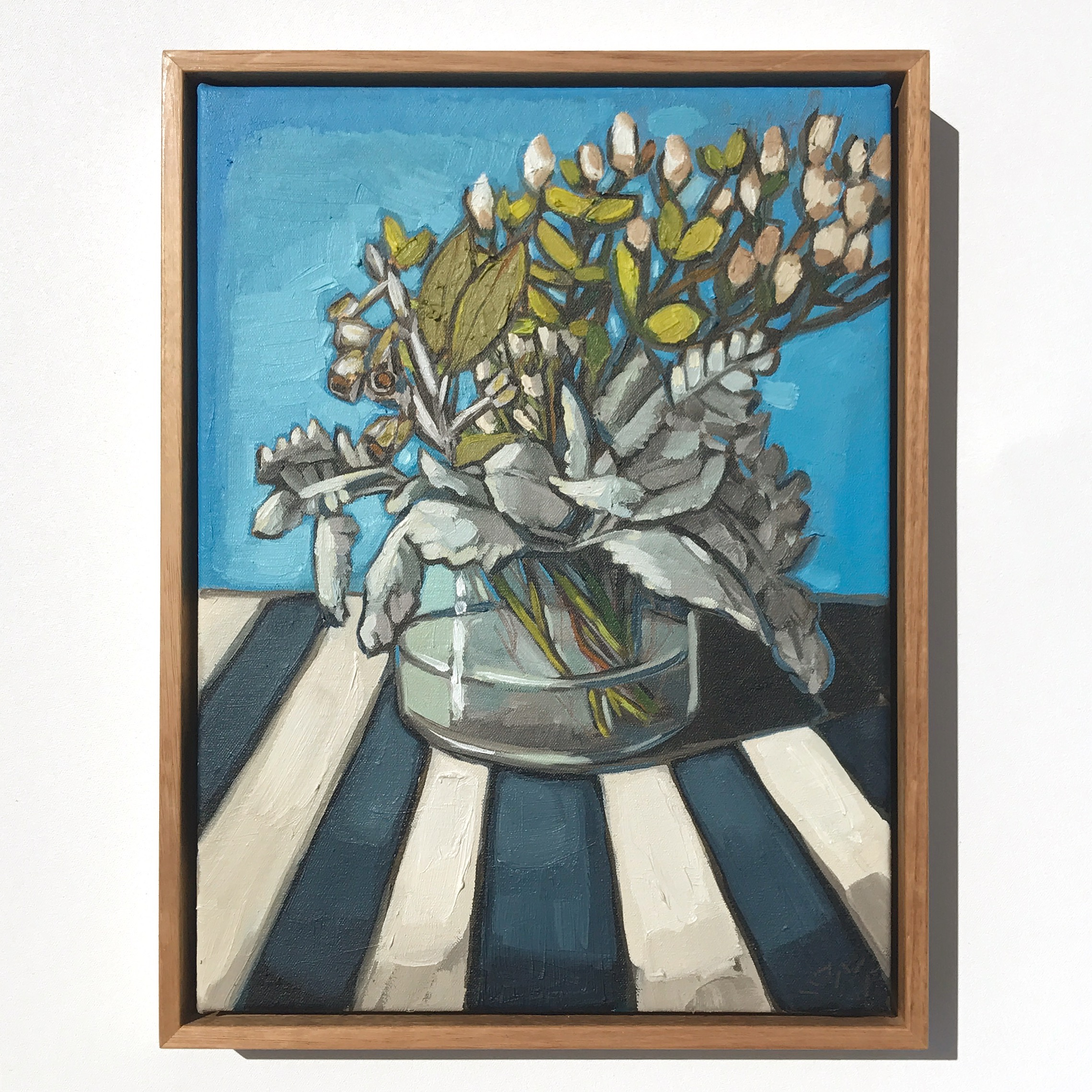 12_17 EMPEREUR 'Lambs Ears & Stripes' 43x33cm $1,095