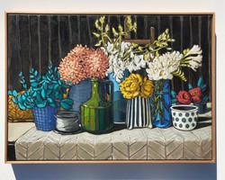 Sam Michelle 'Autumn Table' 75x104cm