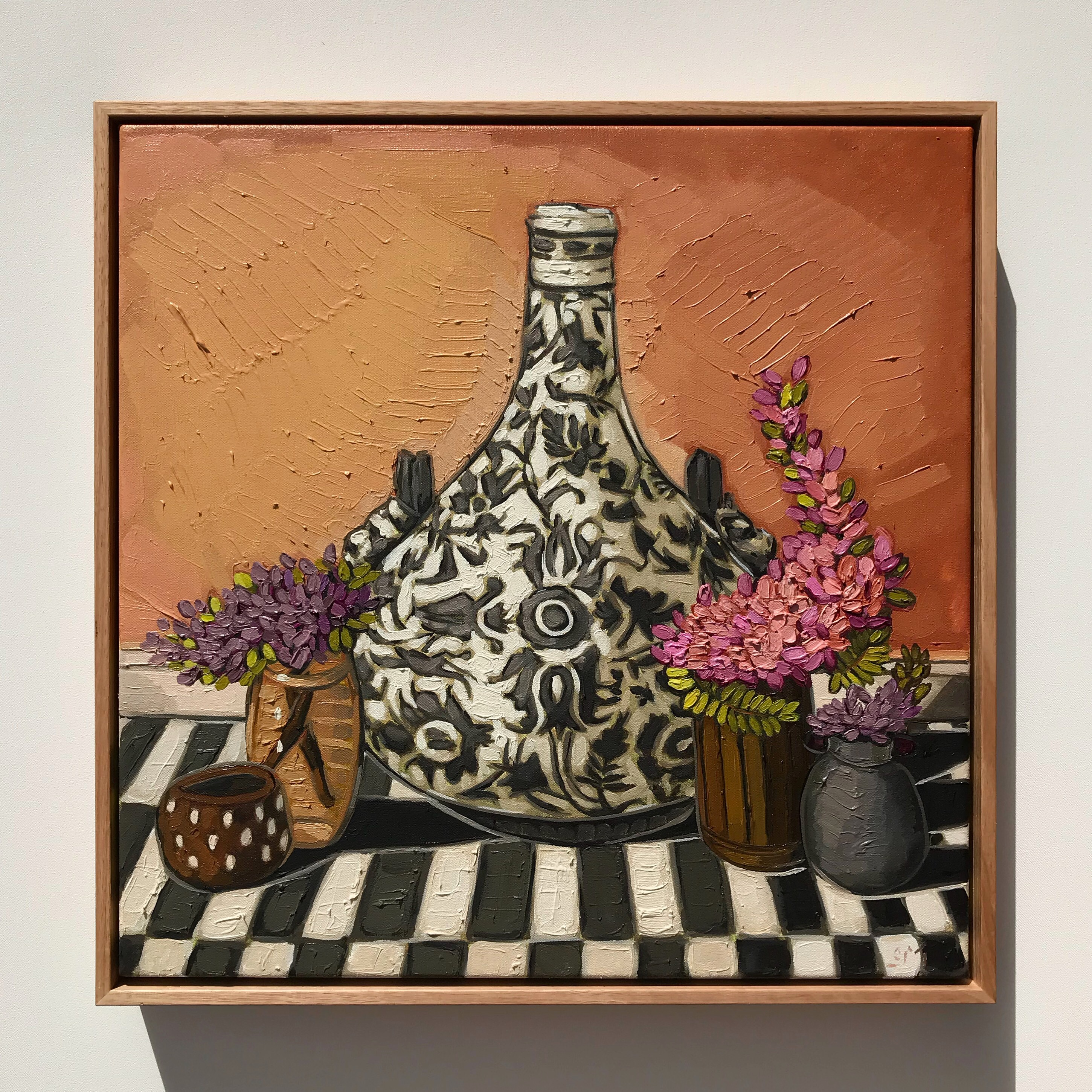 'Getty Bougainvillea & Ceramic'47x47