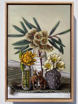 (4) sam michelle 'dargan hill monarch, blossoms & poppies' 48x33cm