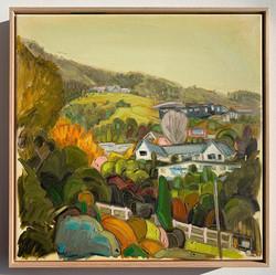 sam michelle 'hills & houses' 53x53cm 20