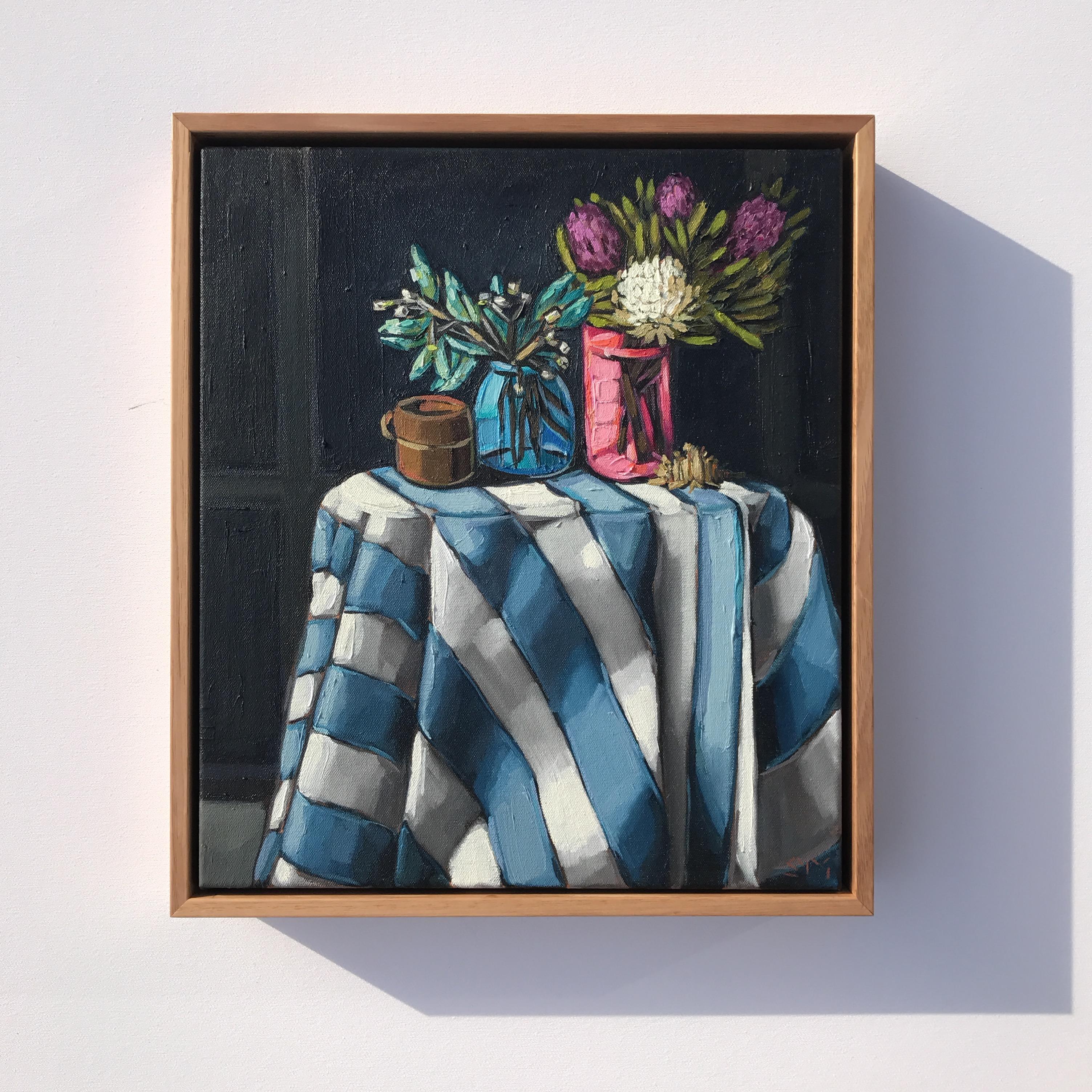 07_17 'Blues & Blossoms; 41x36cm $795