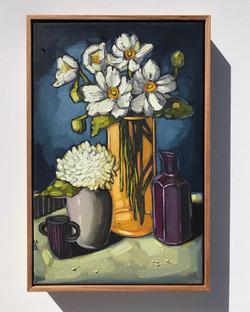 'Anemones & Hydrangea' 30x45cm